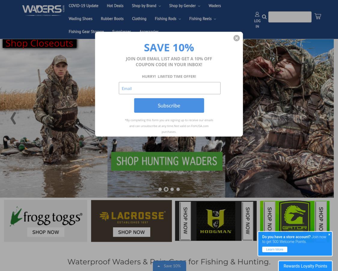 waders coupon codes