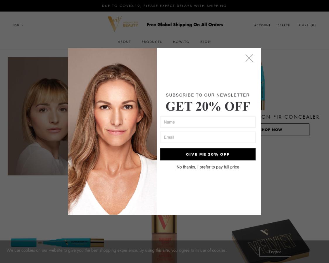 Veil Cosmetics coupon codes