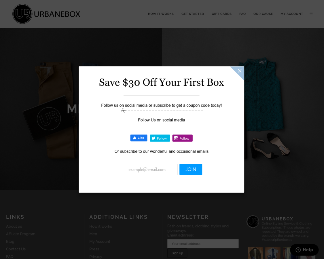 urbanebox coupon codes
