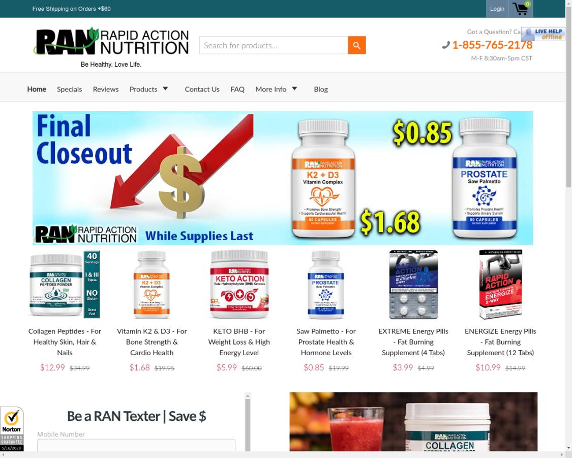 rapidactionnutrition coupon codes