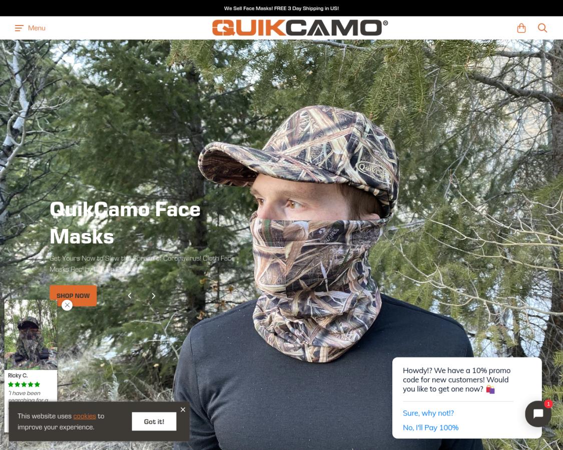 quikcamo coupon codes