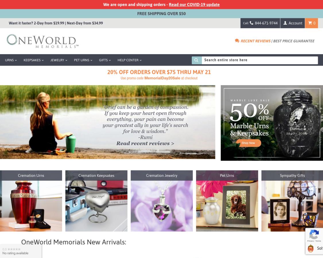 OneWorld Memorials coupon codes