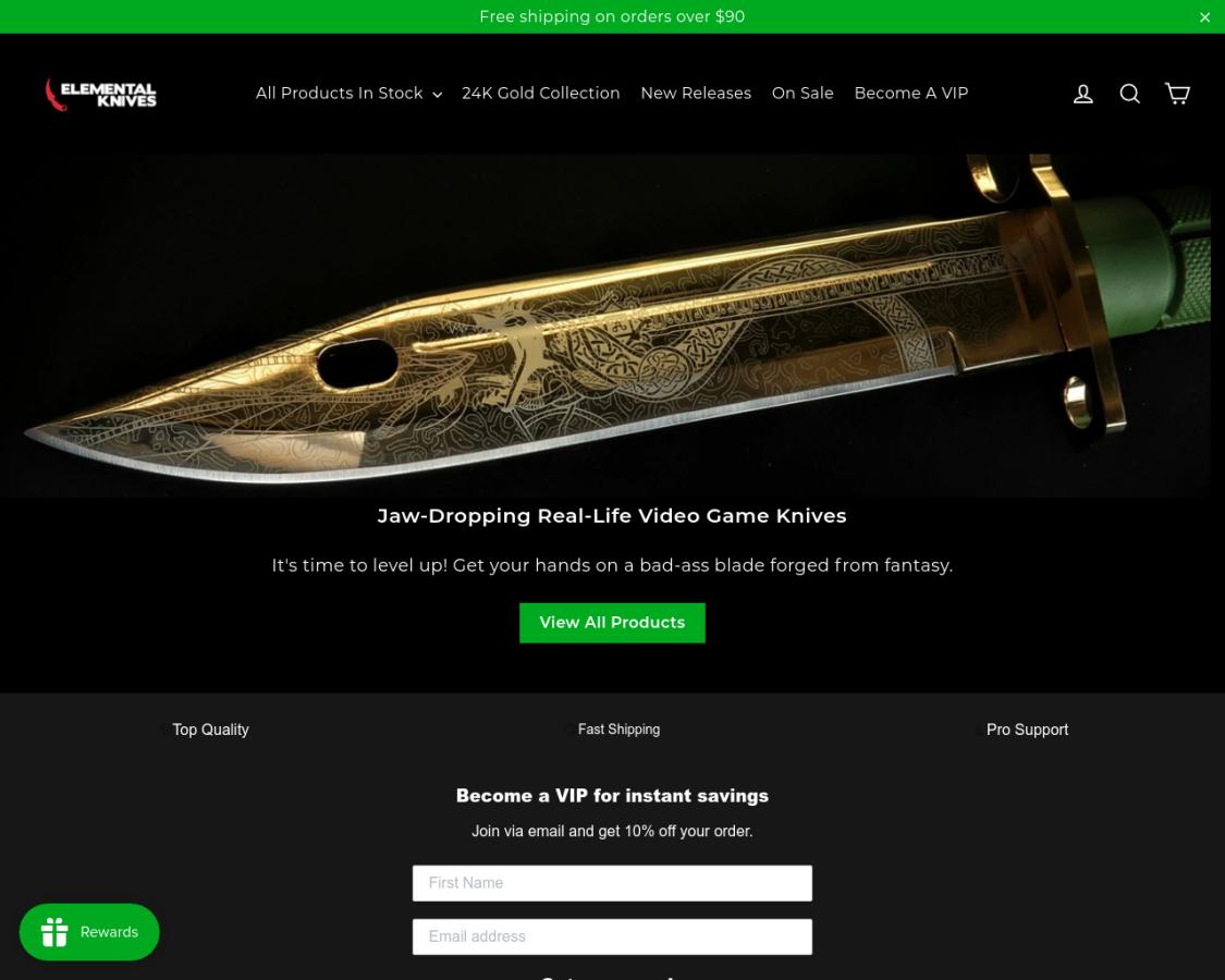 Elemental Knives coupon codes