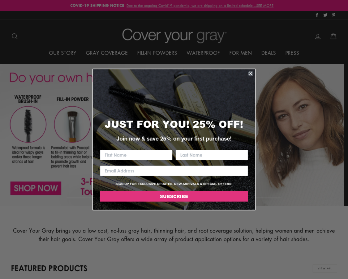 coveryourgray coupon codes