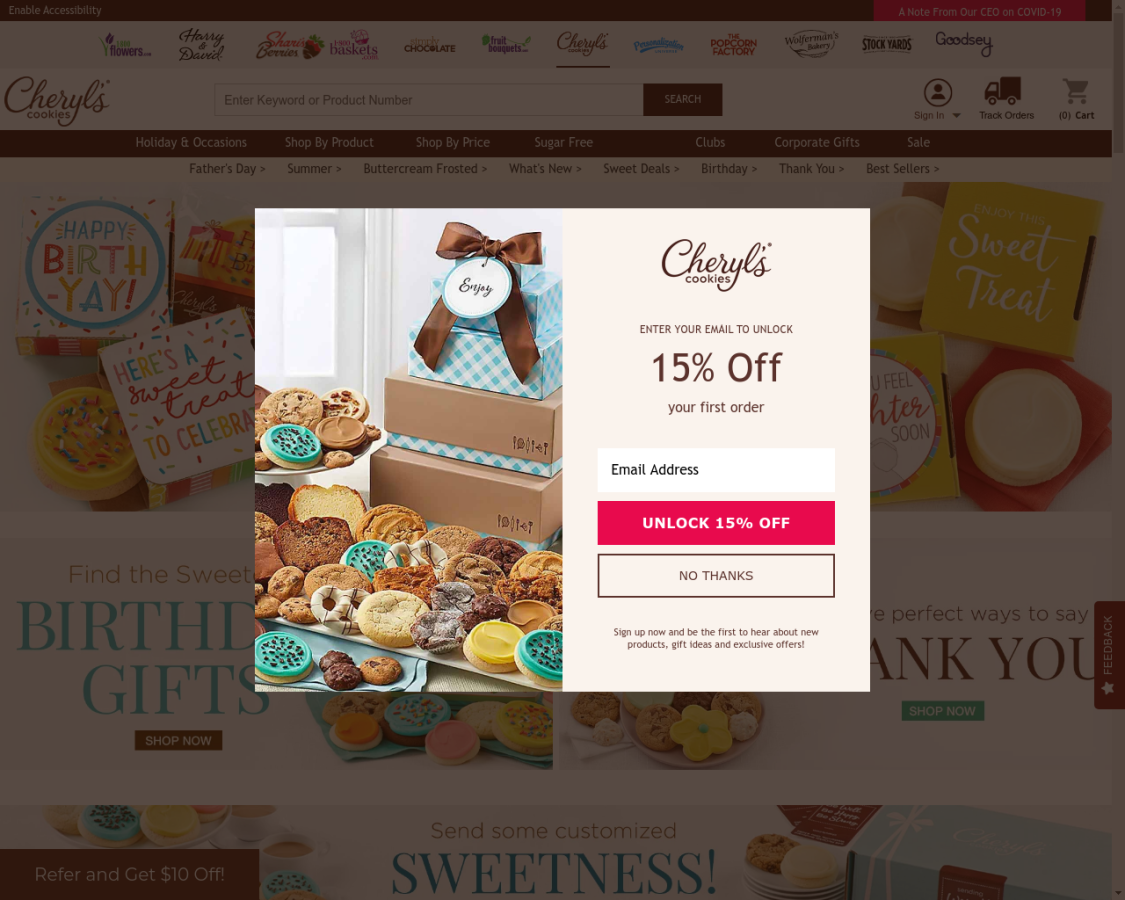 Cheryl`s Cookies coupon codes
