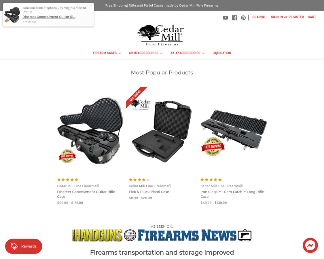 cedarmillfirearms coupon codes