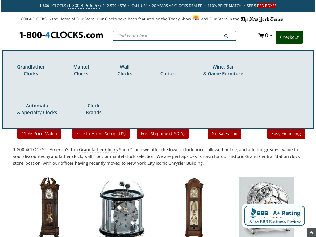 1-800-4Clocks coupon codes