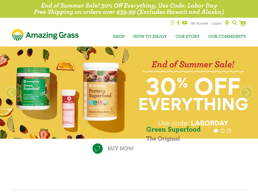 Amazing Grass coupon codes