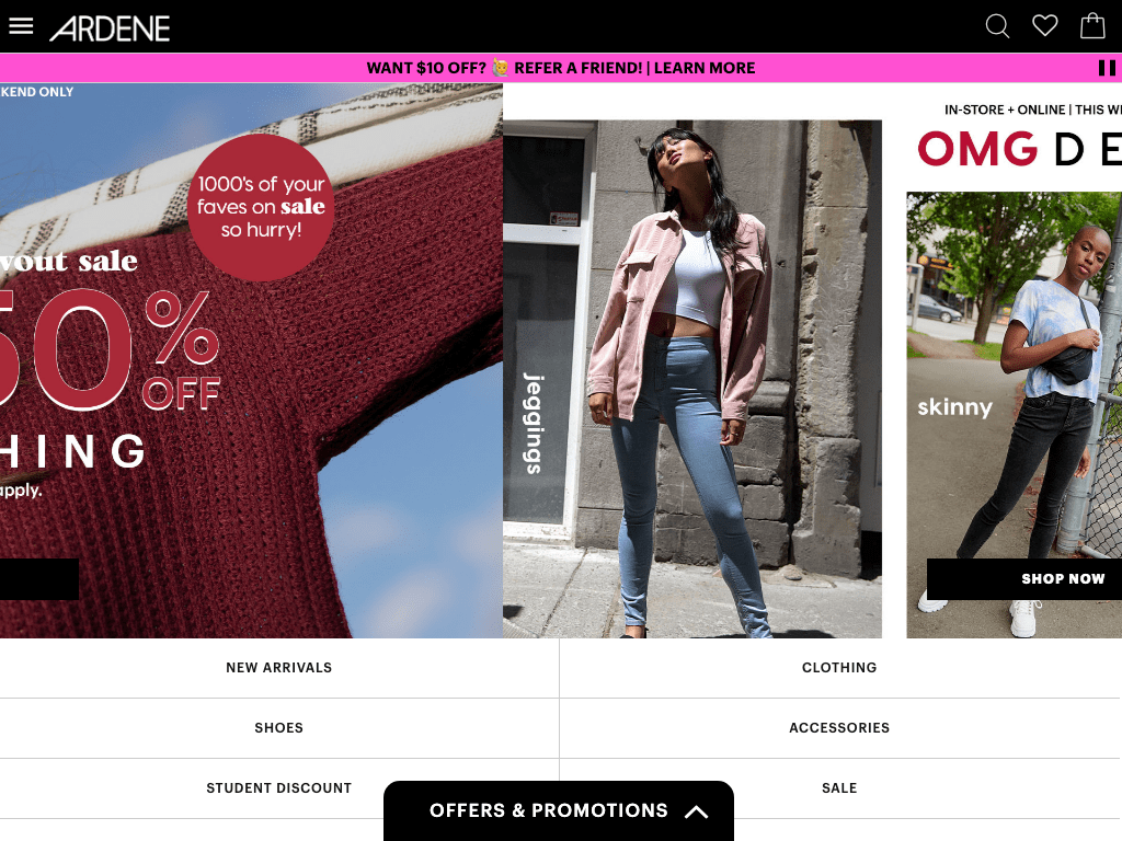 ARDENE coupon codes