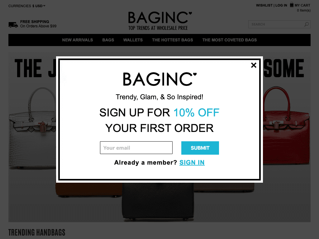 BAGINC : BGLAMOUR LIMITED coupon codes