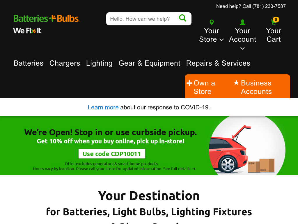Batteries Plus coupon codes