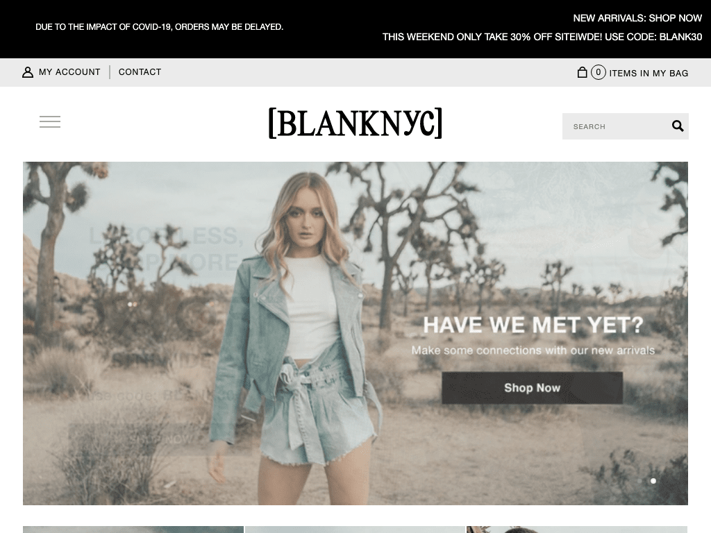 Blank NYC coupon codes