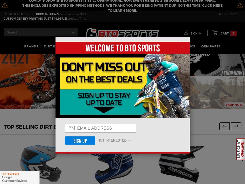 BTO Sports coupon codes