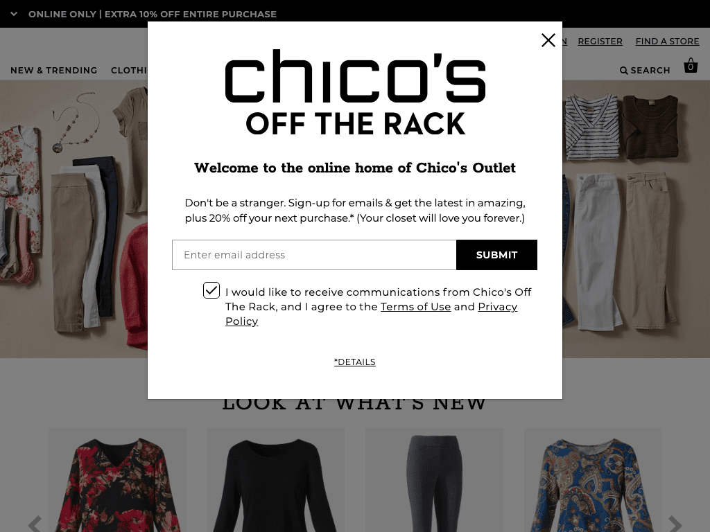 Chico's Off The Rack coupon codes