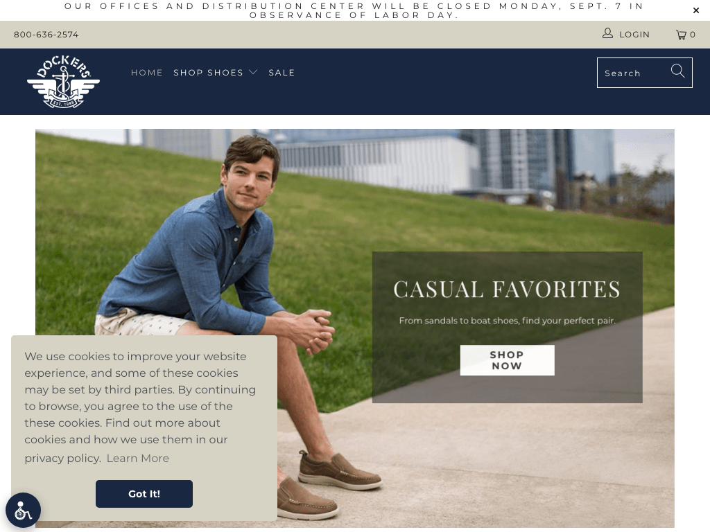 Dockers Shoes coupon codes