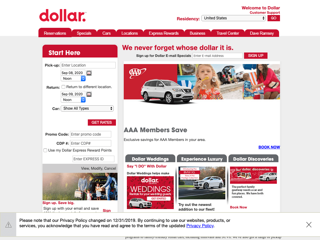 Dollar Rent-a-Car, Inc. coupon codes