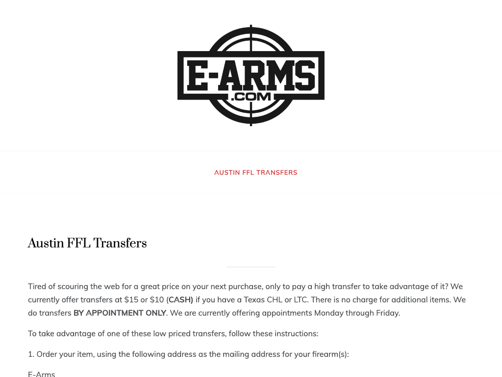 e-arms coupon codes