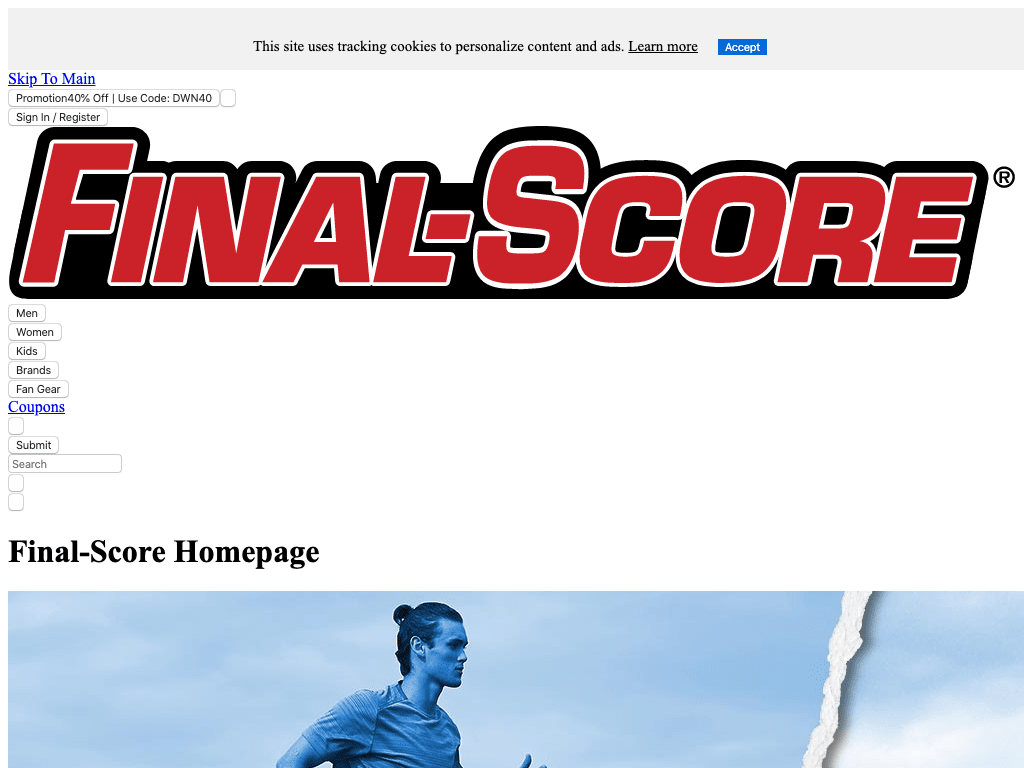 Final score coupon codes