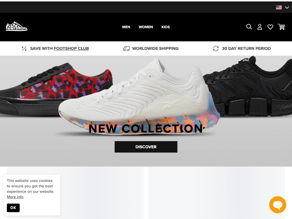 Footshop - COM coupon codes