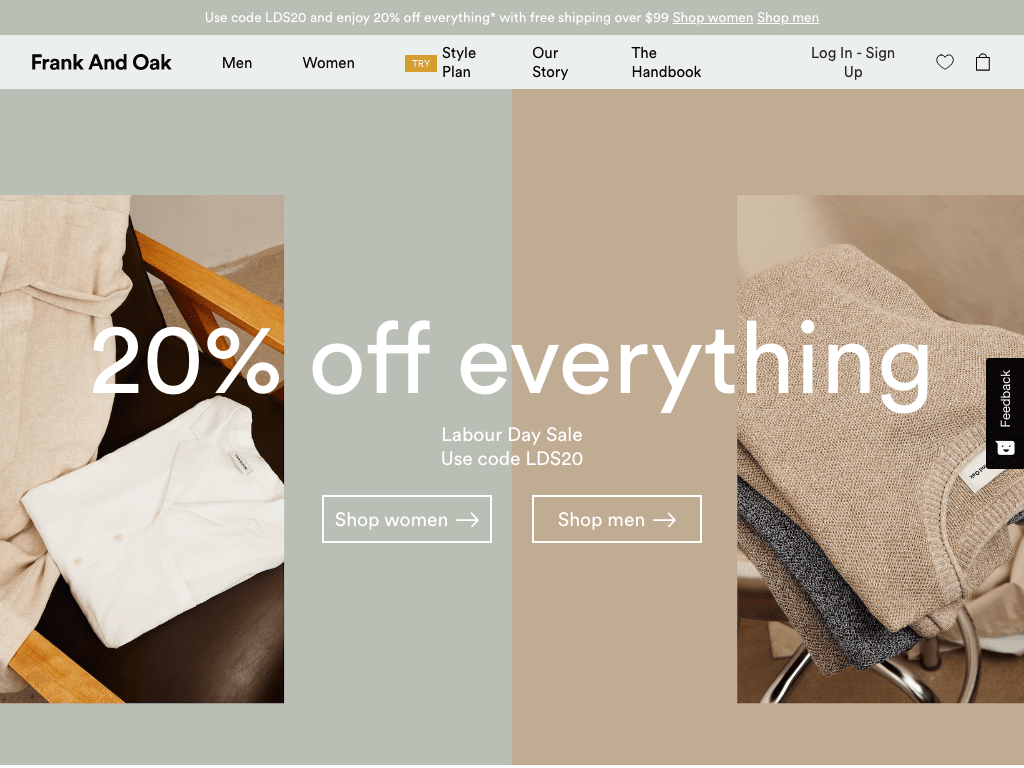 Frank And Oak coupon codes