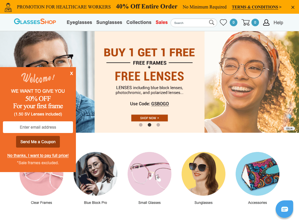 GlassesShop.com coupon codes