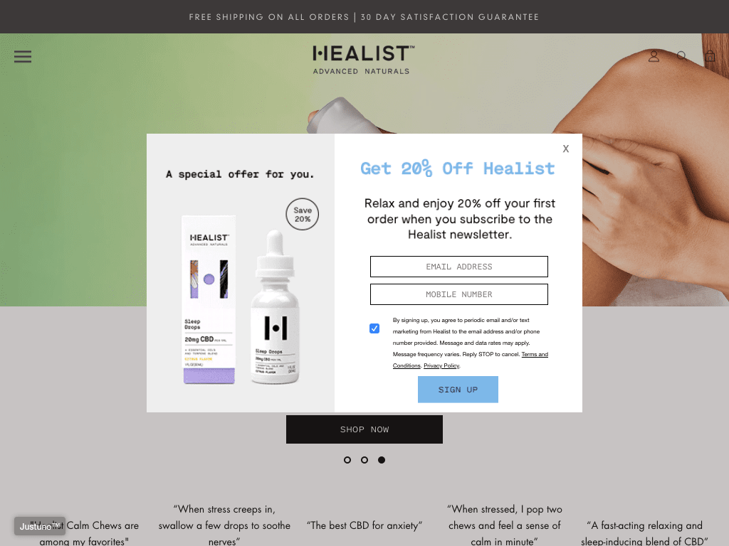 Healist Naturals Affiliate coupon codes