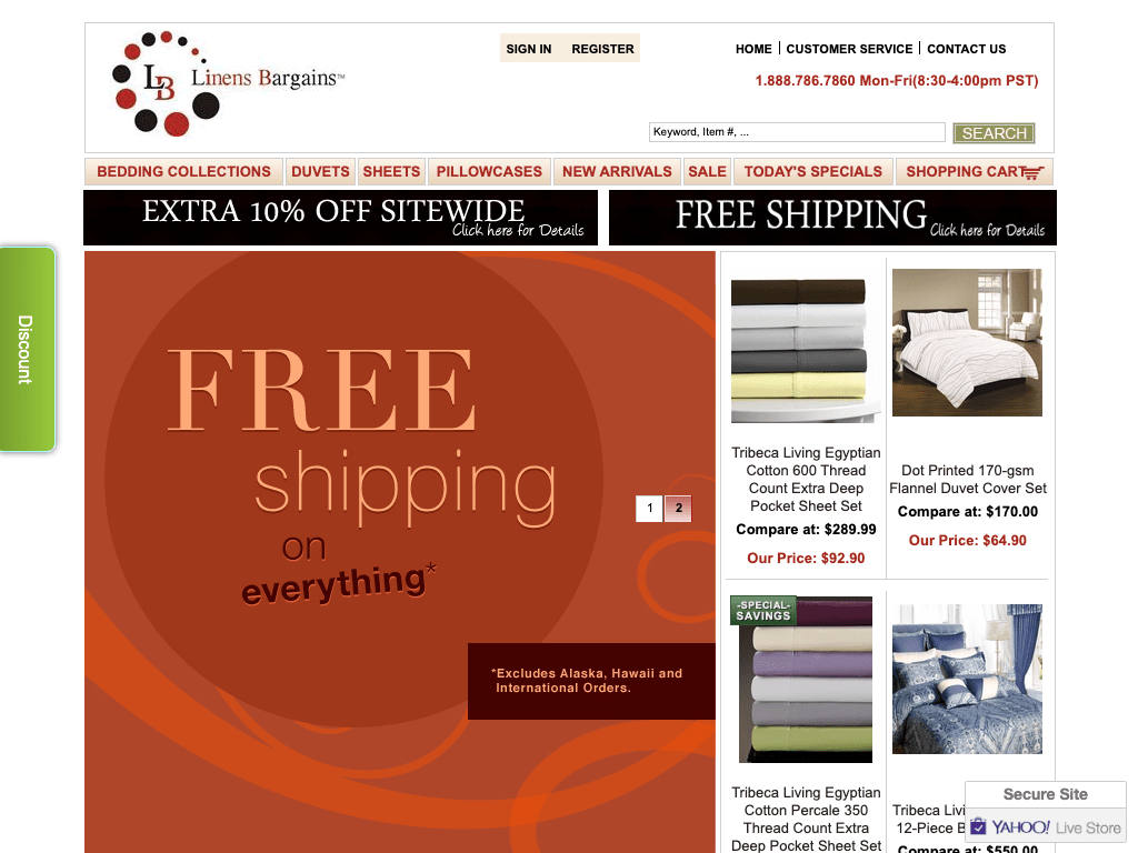Linens Bargains coupon codes