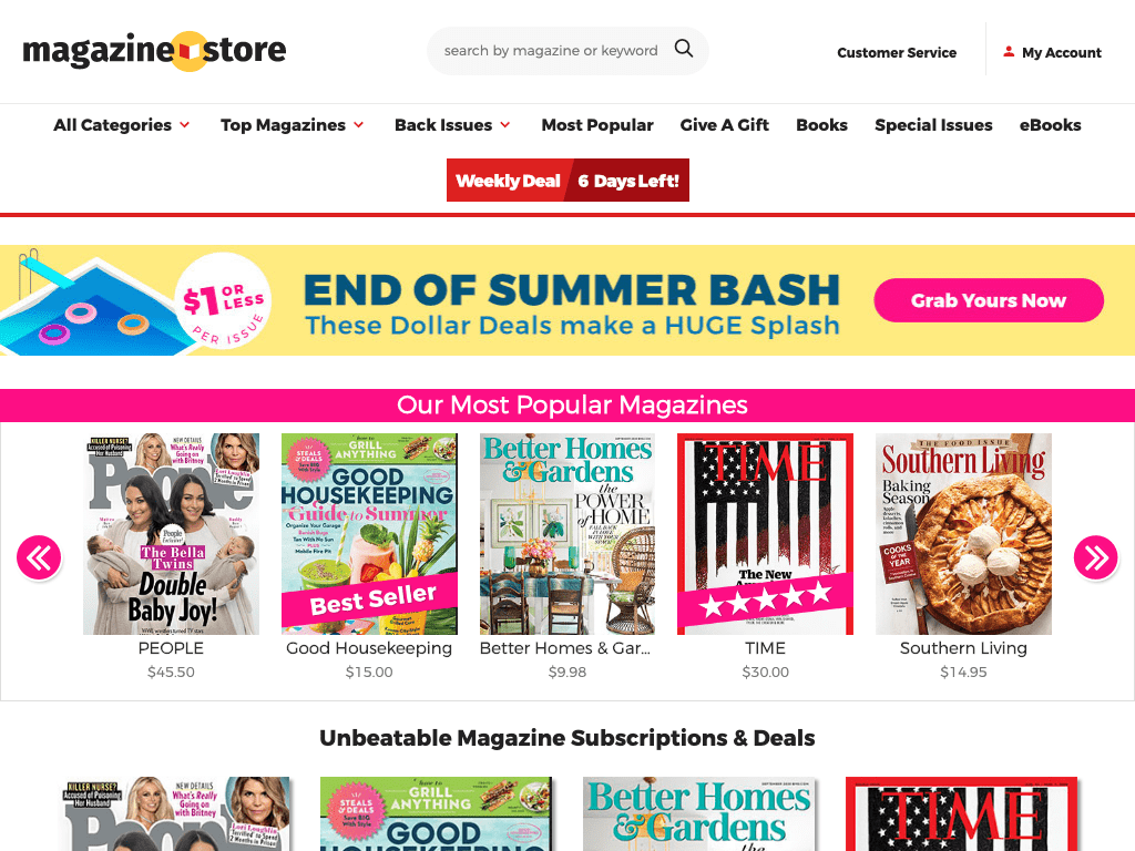 Meredith Magazine Store coupon codes