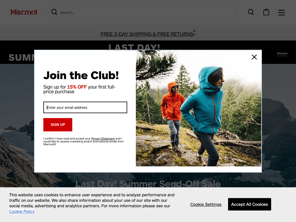 Marmot, Rawlings, and Coleman coupon codes