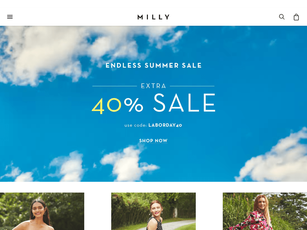 Milly coupon codes