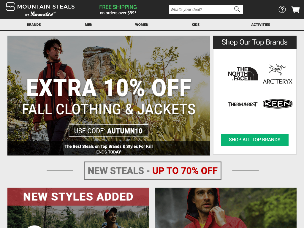 Mountain Steals coupon codes