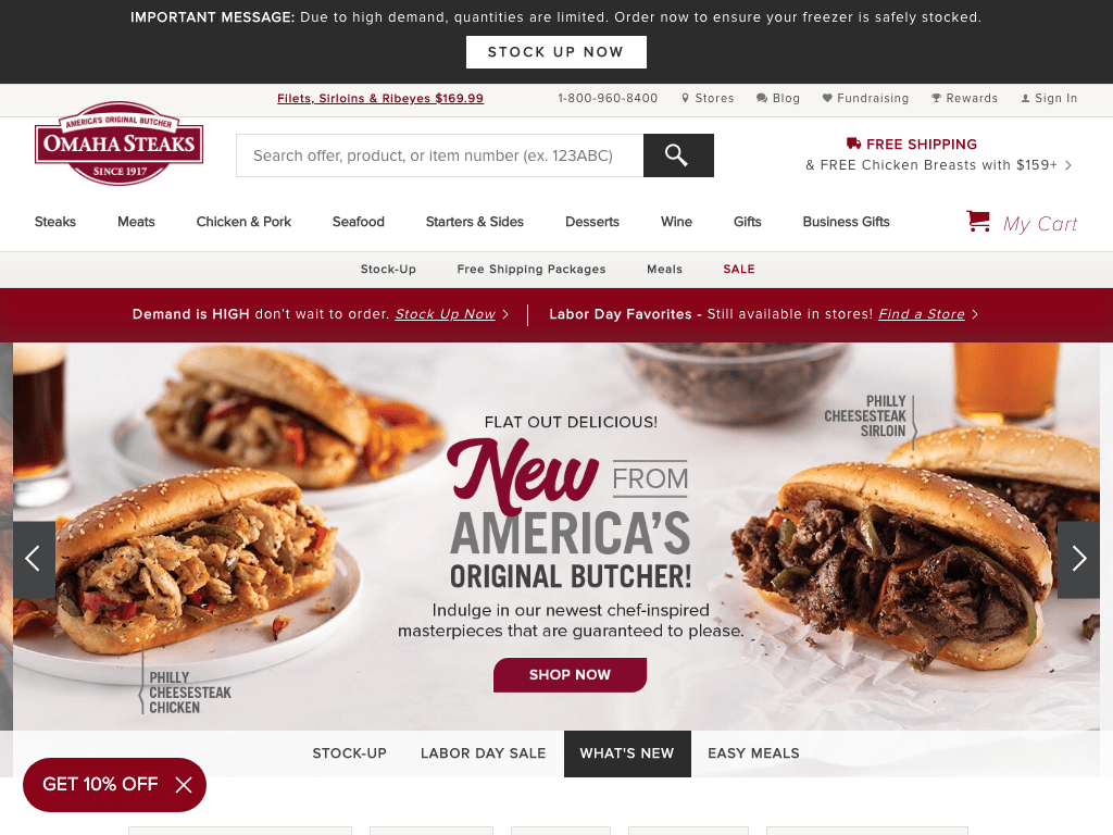 OmahaSteaks.com, Inc. coupon codes