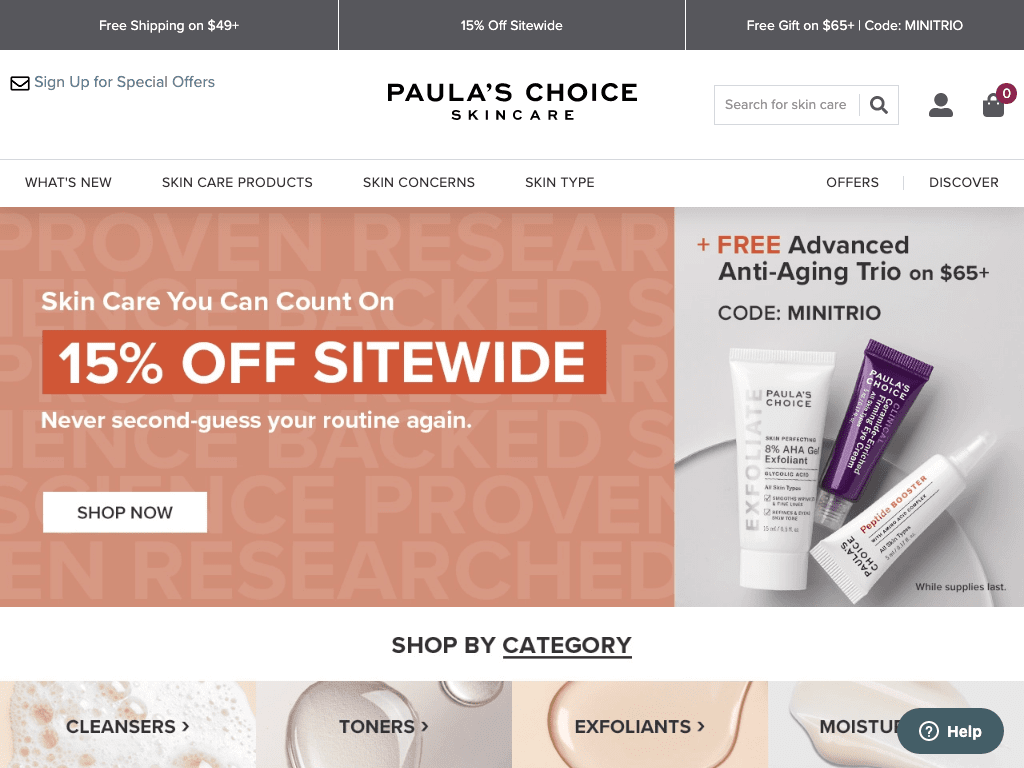Paula`s Choice coupon codes