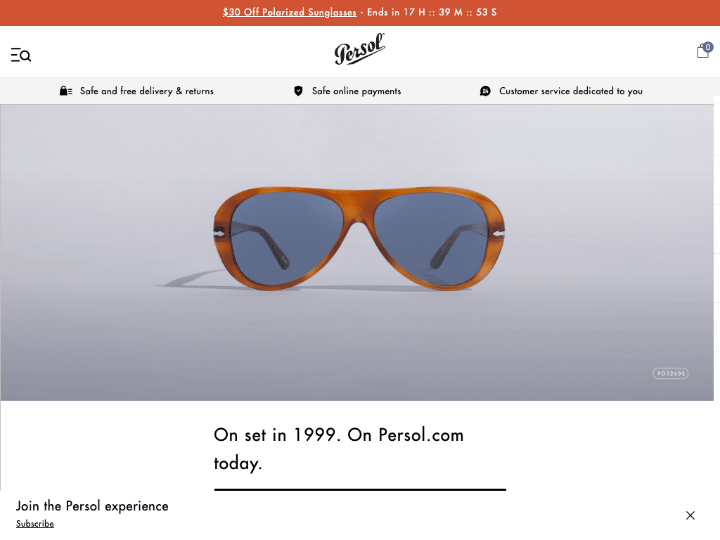 Persol USA/CA coupon codes