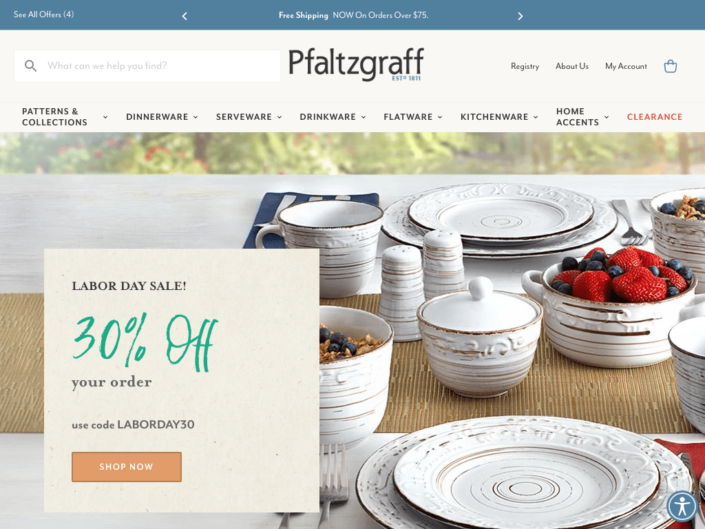 The Pfaltzgraff Co. coupon codes