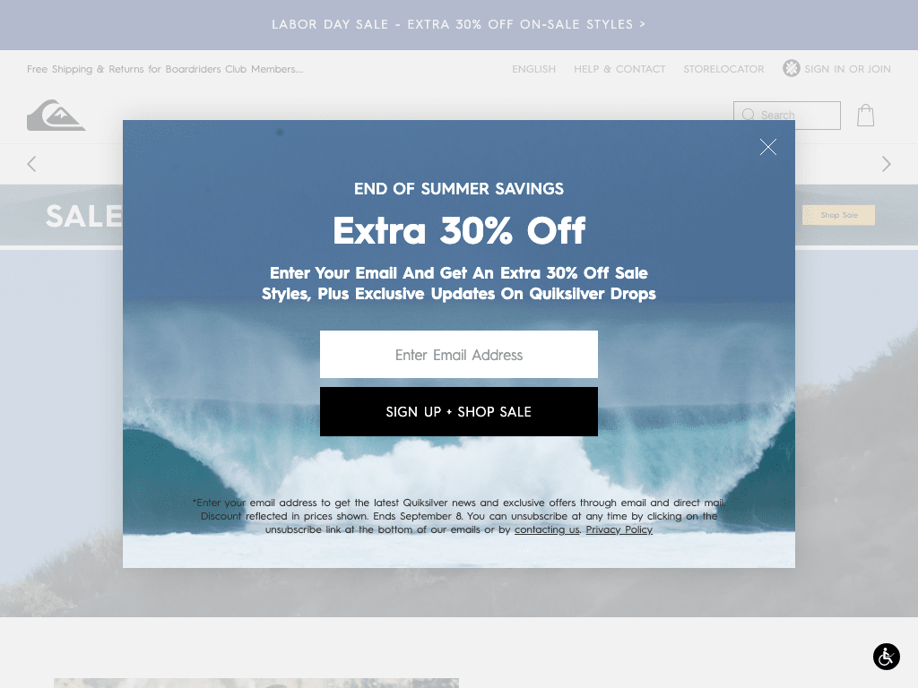 Quiksilver coupon codes