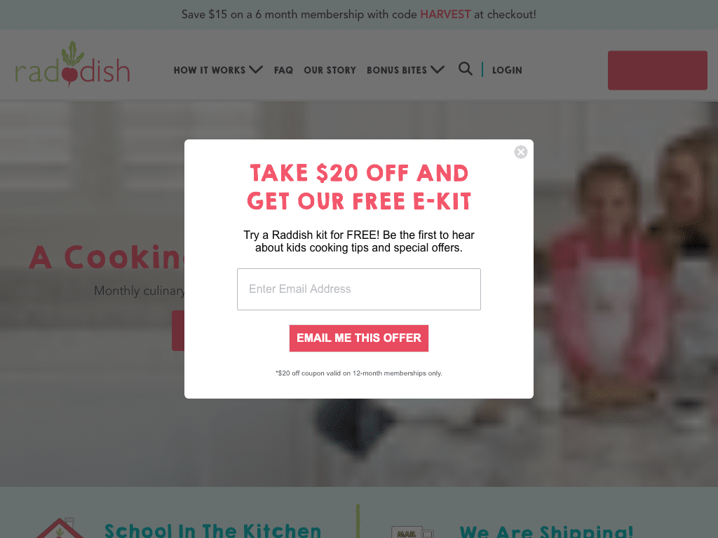 raddishkids coupon codes