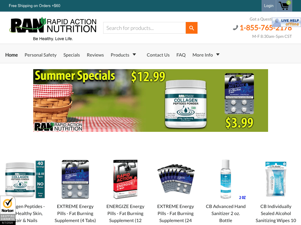 rapidactionnutrition coupon codes
