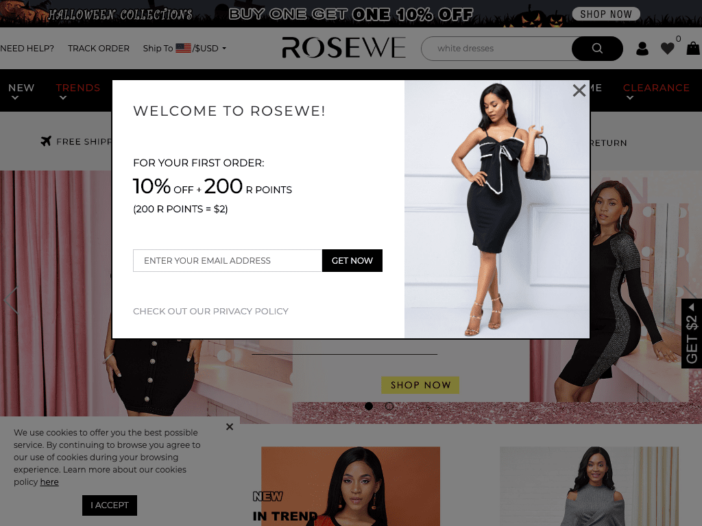 Rosewe coupon codes