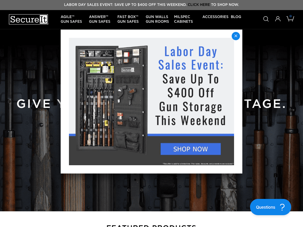 secureitgunstorage coupon codes