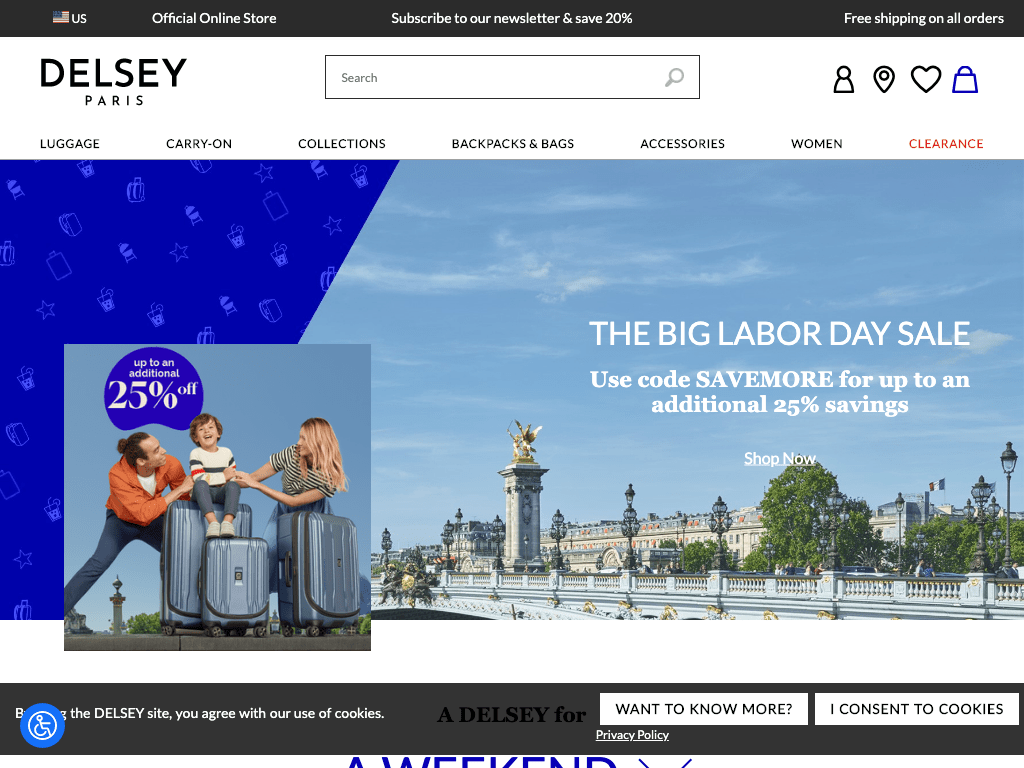 Delsey coupon codes
