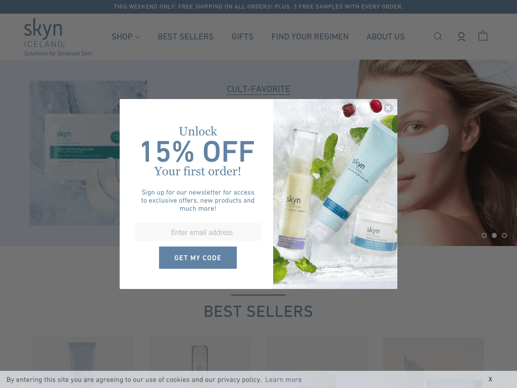 Skyn ICELAND coupon codes