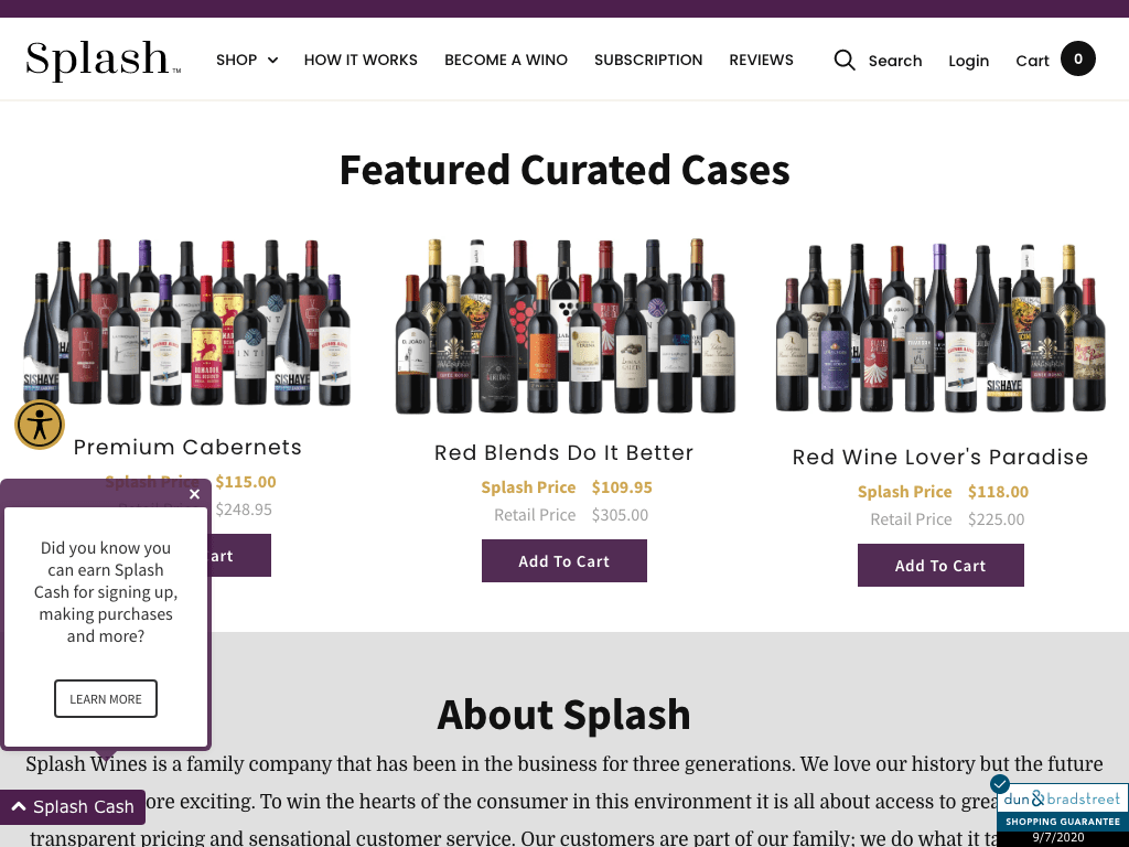 Splash Wines coupon codes