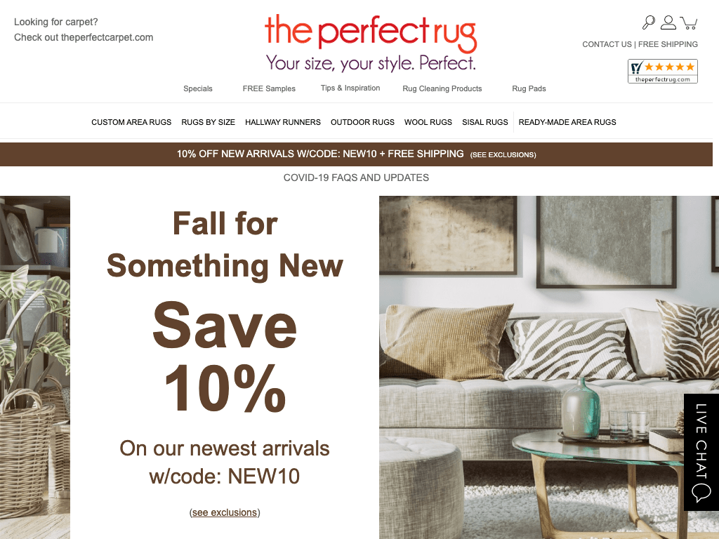 The Perfect Rug coupon codes
