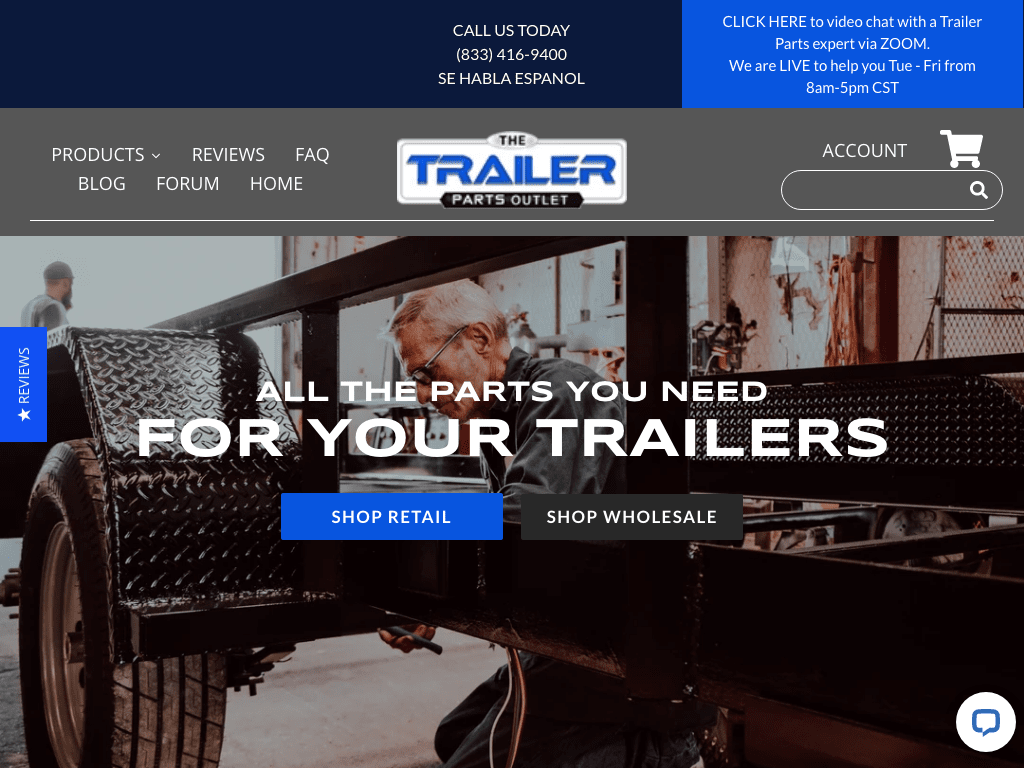The Trailer Parts Outlet coupon codes