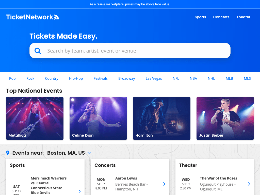 TicketNetwork coupon codes