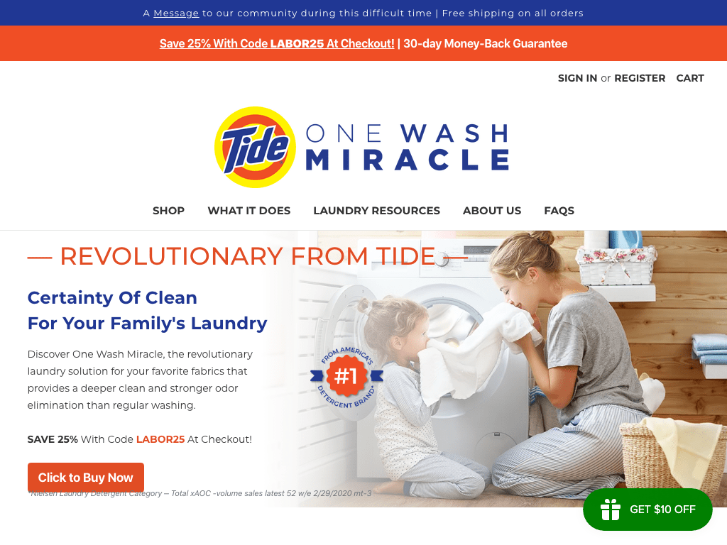 Tide One Wash Miracle coupon codes