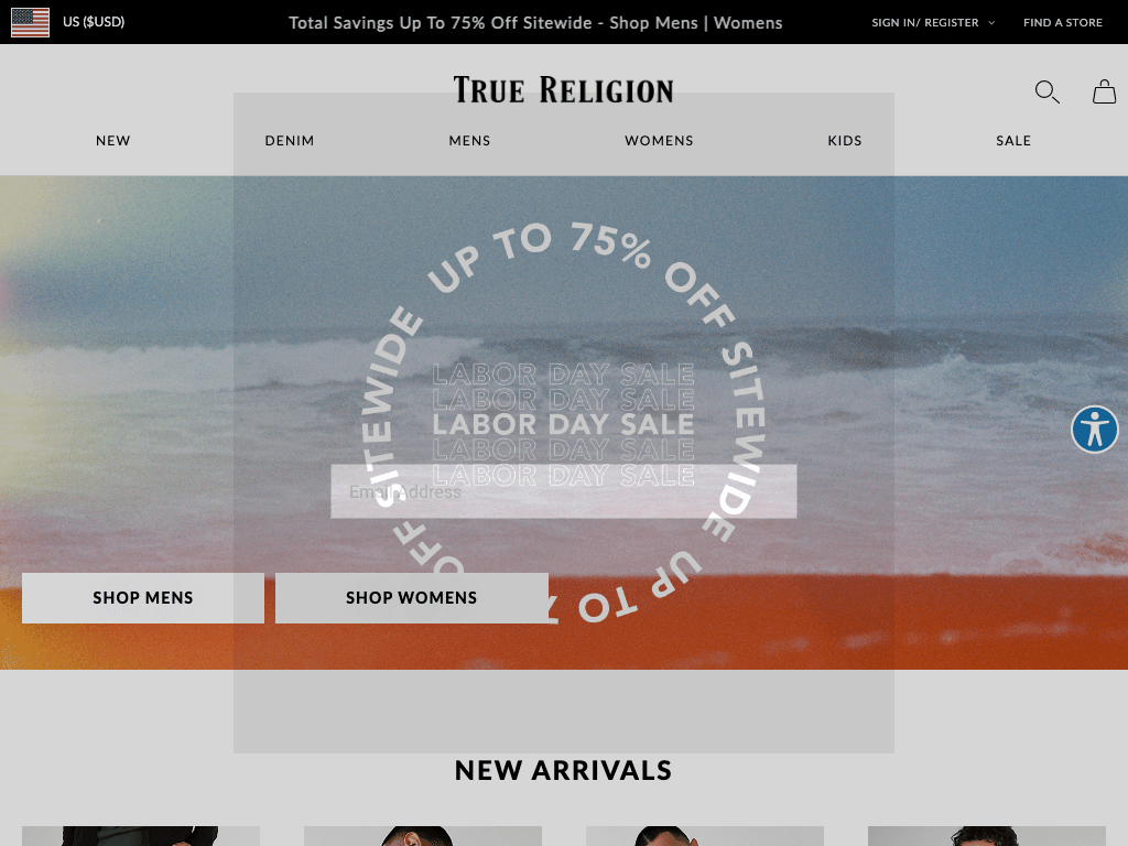 True Religion coupon codes
