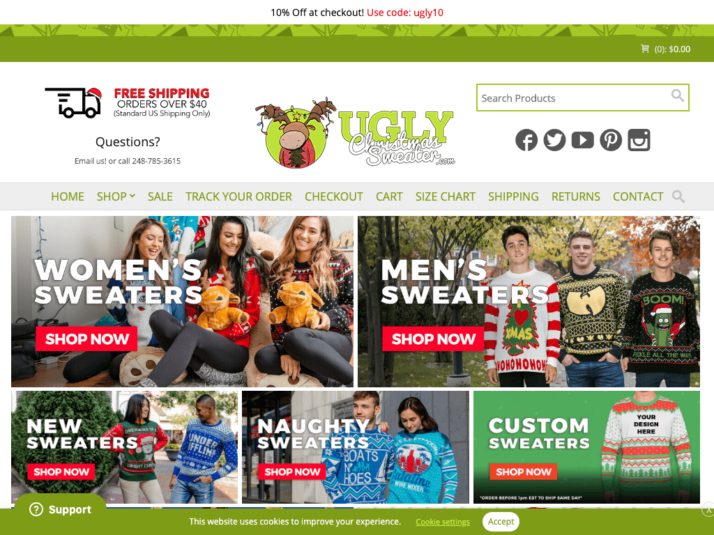 Ugly Christmas Sweater coupon codes