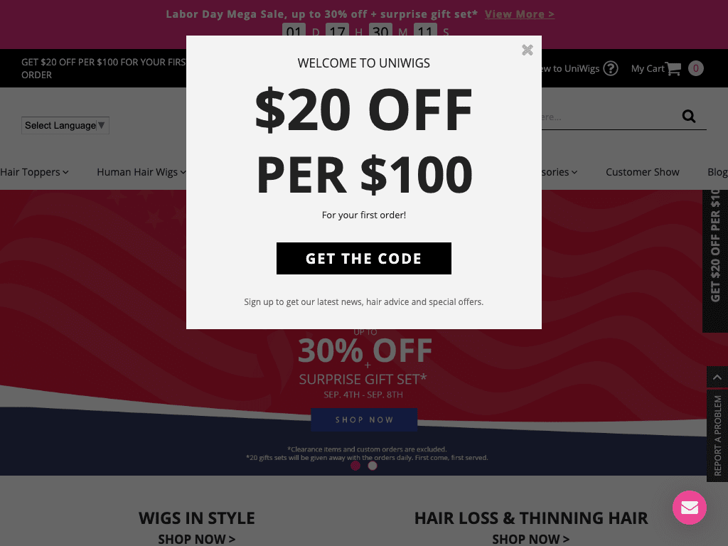 Uni Wigs coupon codes